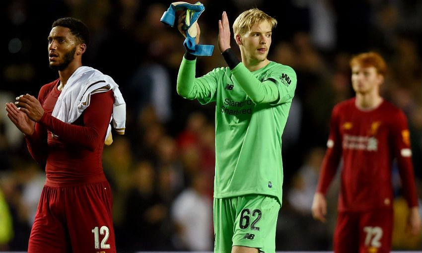 Caoimhin Kelleher of Liverpool FC after MK Dons win