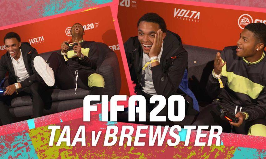 Trent Alexander-Arnold v Rhian Brewster on FIFA 20