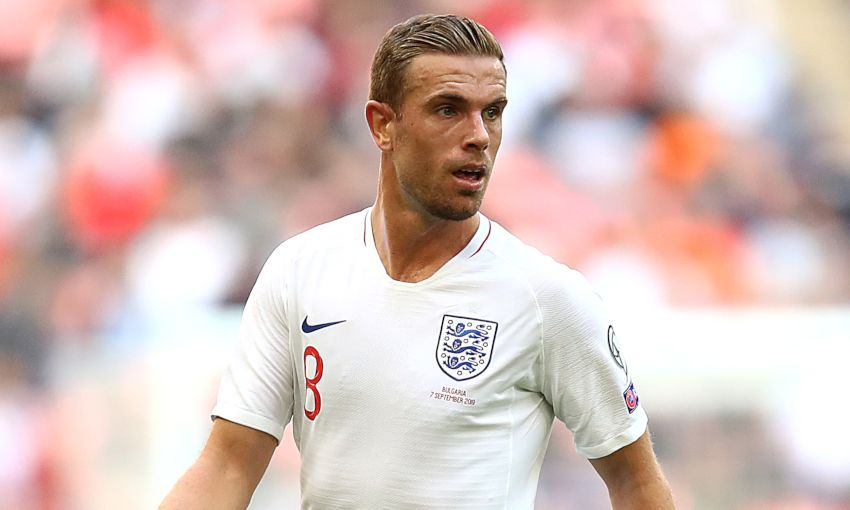 Jordan Henderson representing England