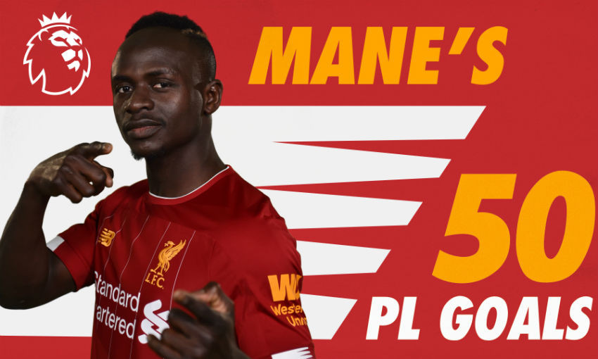 Free video: Watch Sadio Mane's 50 PL goals for Liverpool