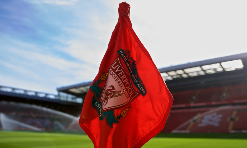 Generic shot of a corner flag at Anfield