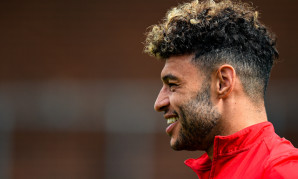 Alex Oxlade-Chamberlain in training at Melwood