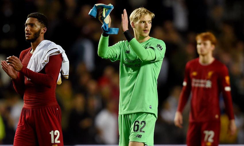 Caoimhin Kelleher makes his Liverpool debut