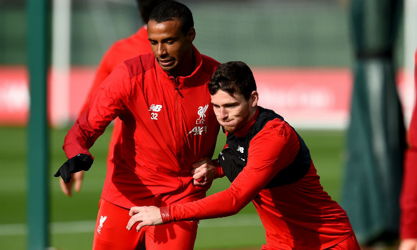 Joel Matip of Liverpool FC during a training session