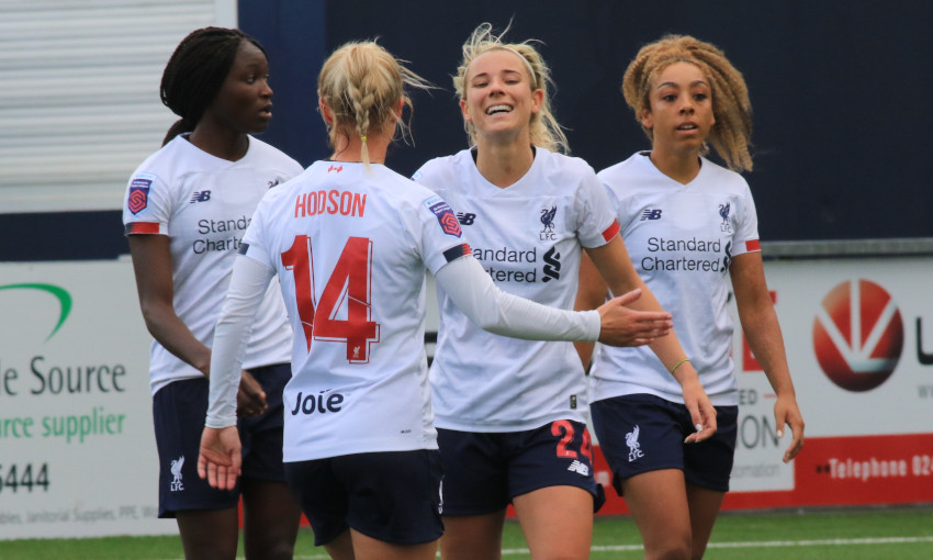 Liverpool FC Women celebrate against Coventry