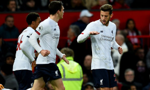 Adam Lallana goal celebration against Manchester United