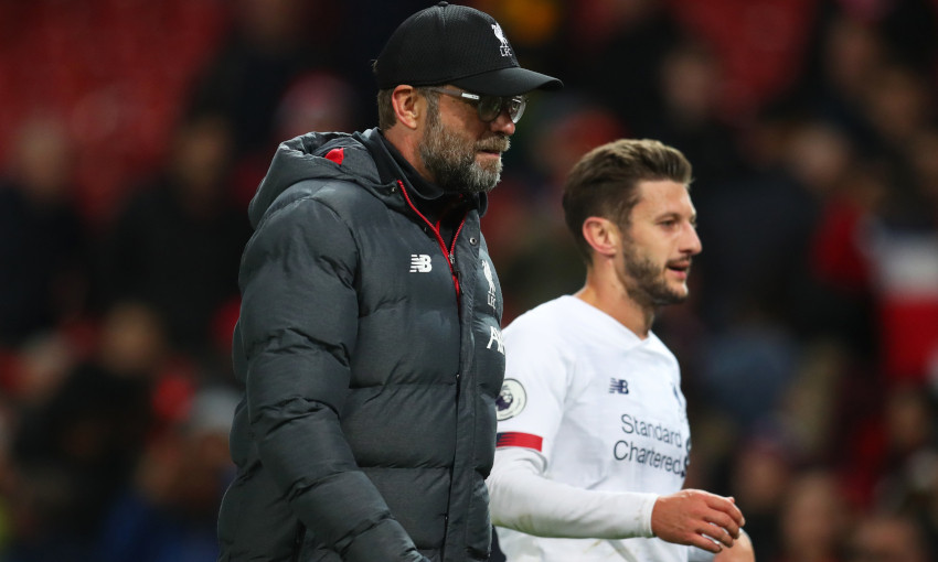 Jürgen Klopp and Adam Lallana