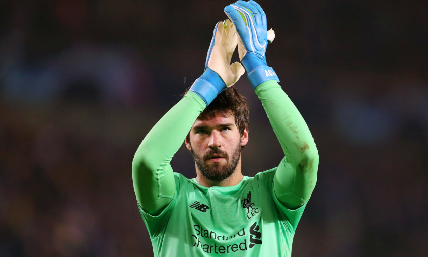 Alisson Becker, Genk v Liverpool