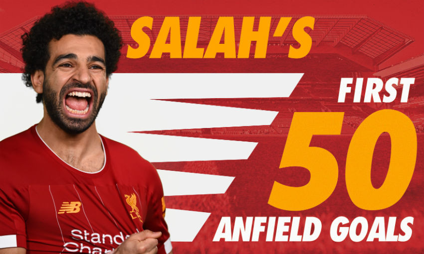 Mohamed Salah's 50 Anfield goals for Liverpool FC