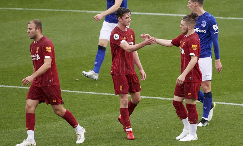 Liverpool U23s celebrate against Everton