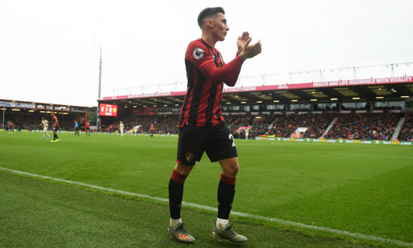 Harry Wilson in action for AFC Bournemouth