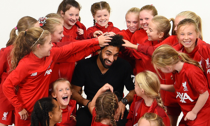 Photos: Behind the scenes of Kop Kids with Mohamed Salah