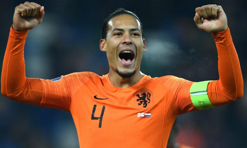 Virgil van Dijk of Liverpool FC and Netherlands