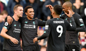 Trent Alexander-Arnold celebrates goal in Burnley v vpgame平台