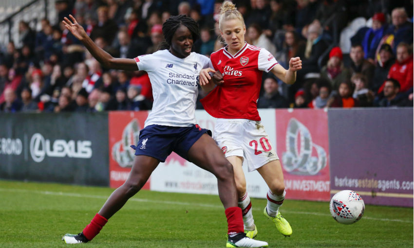 Rinsola Babajide of Liverpool FC Women in game v Arsenal
