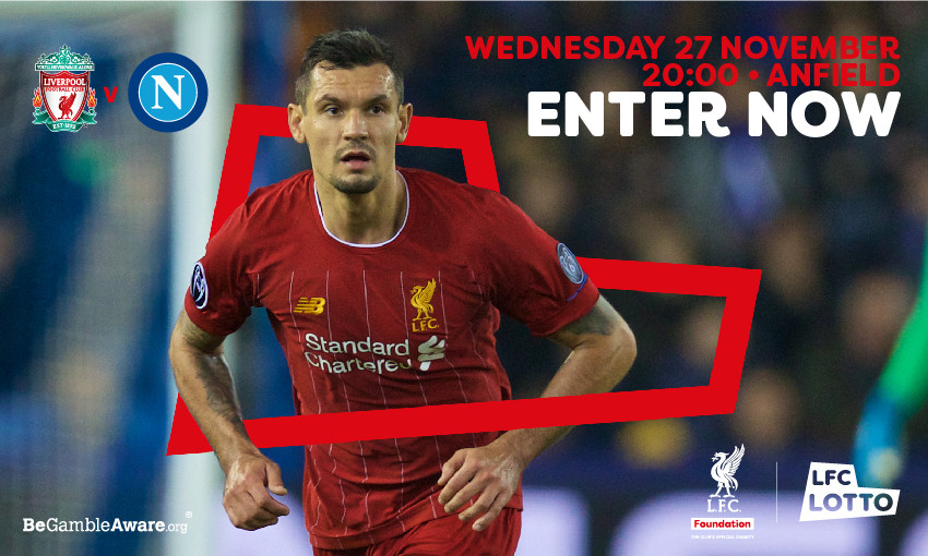 LFC Foundation Lotto Matchday Draw open for Napoli game