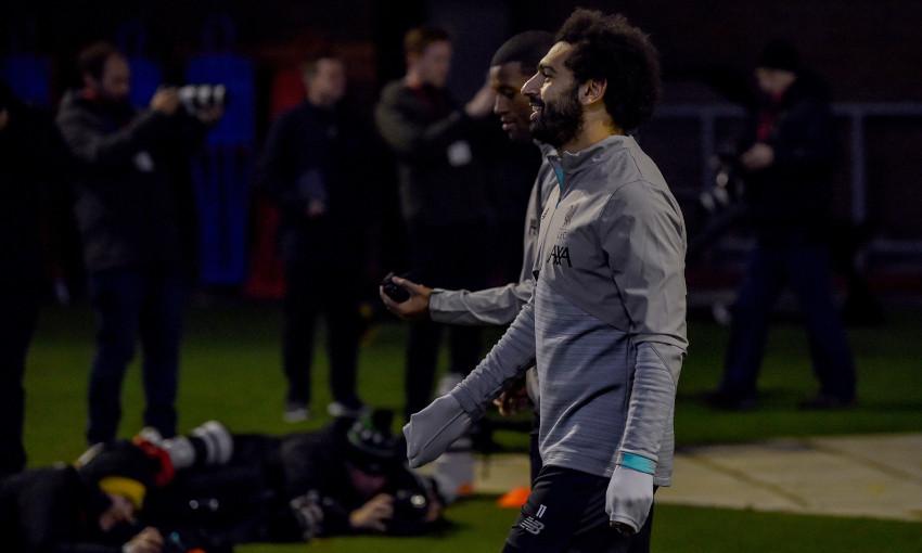 Mohamed Salah in training at Melwood