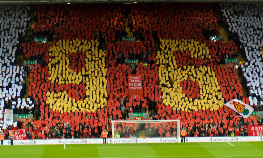 '96' mosaic on the Kop