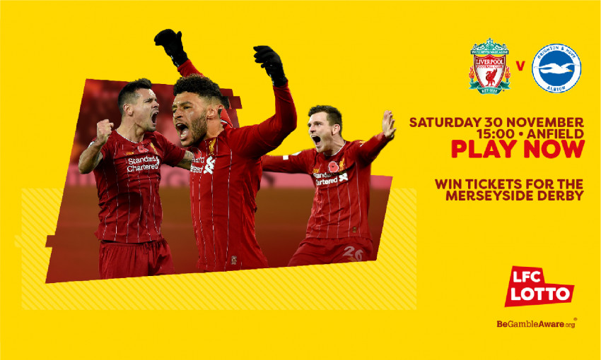 Win 2x tickets to the Merseyside Derby through the LFC Lotto