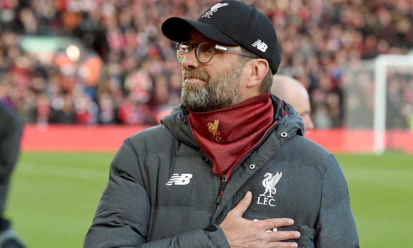 Liverpool manager Jürgen Klopp at Anfield