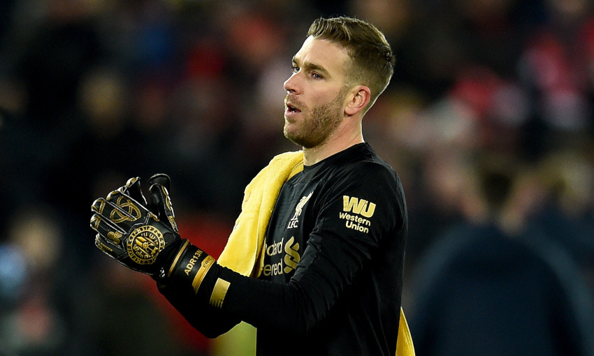 Liverpool goalkeeper Adrian