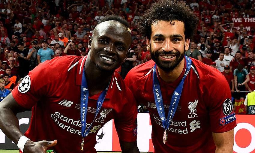 Sadio Mane and Mohamed Salah of Liverpool FC