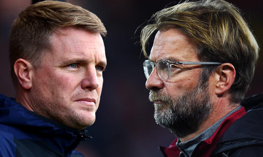 Bournemouth boss Eddie Howe and Liverpool manager Jürgen Klopp