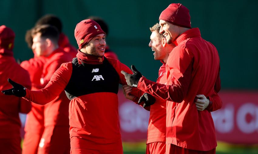 Liverpool's pre-Salzburg training