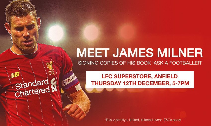 James Milner book signing