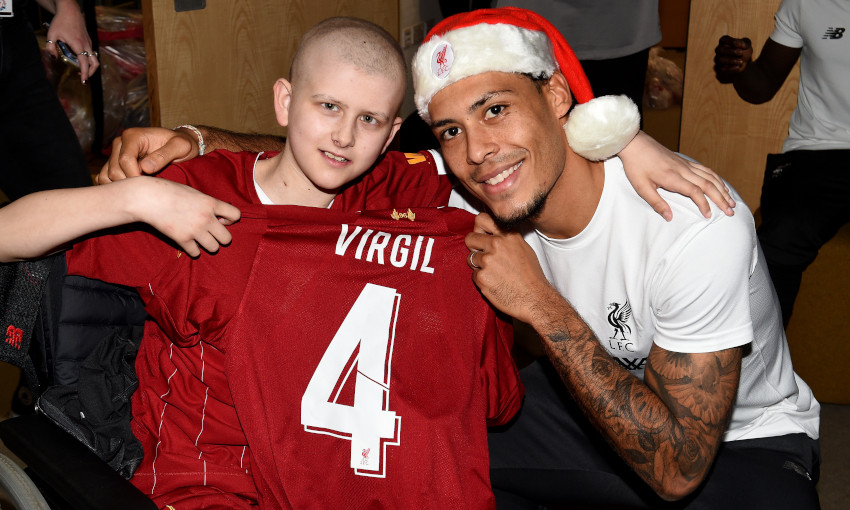 Virgil van Dijk at Alder Hey