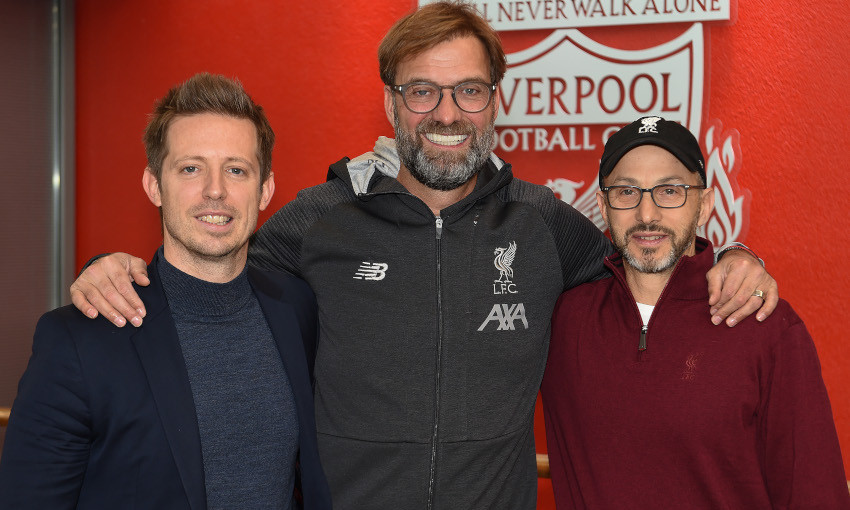 Jürgen Klopp, Michael Edwards and Mike Gordon