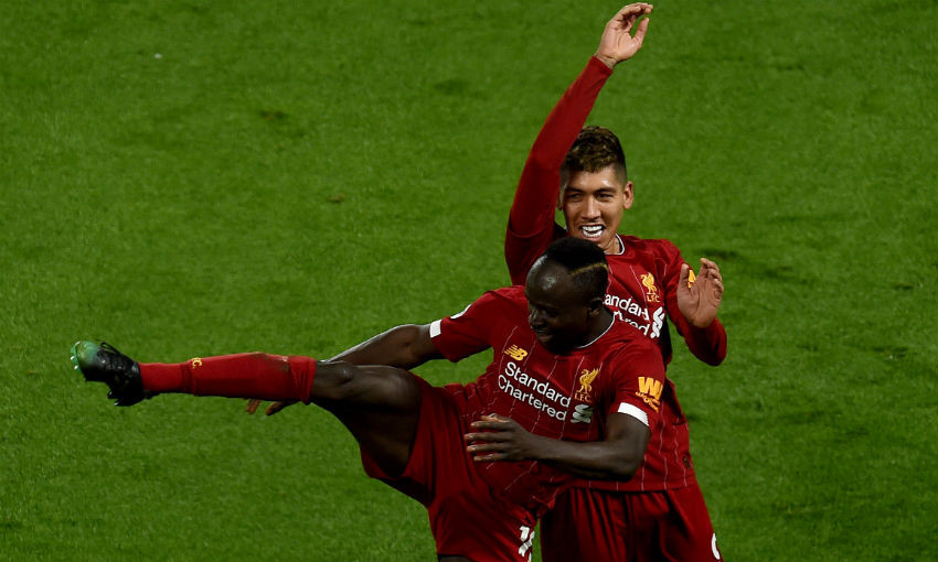 Sadio Mane and Roberto Firmino of Liverpool FC