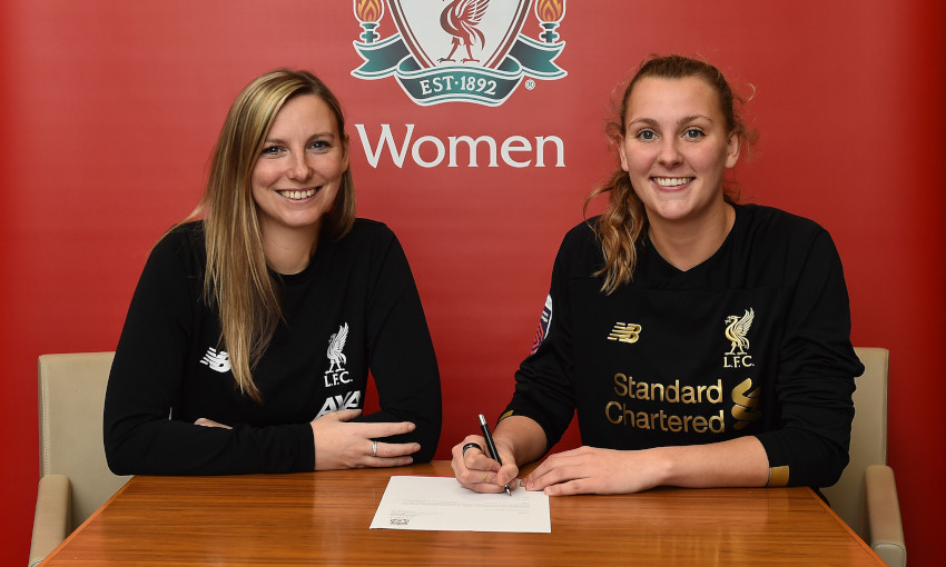 Rylee Foster signs for Liverpool FC Women