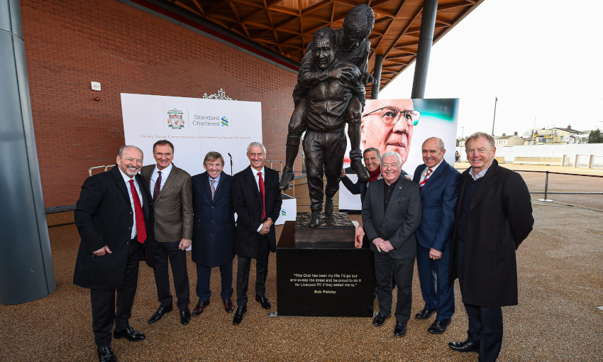 Bob Paisley statue unveiled at Anfield