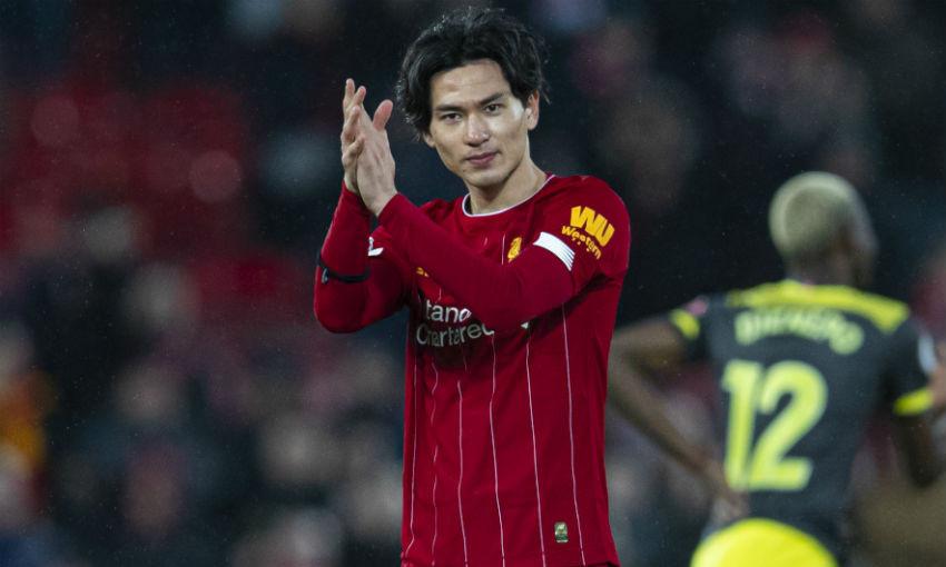 Takumi Minamino of Liverpool FC