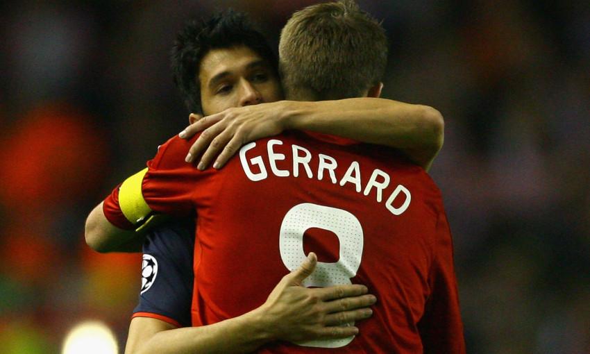 Luis Garcia and Steven Gerrard