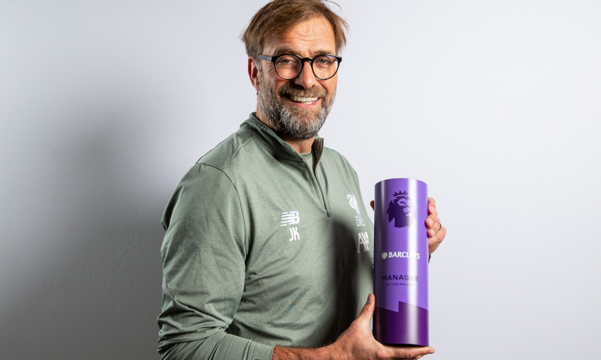 Jürgen Klopp receives Premier League Manager of the Month award for January 2020