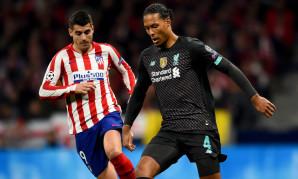 Virgil van Dijk in action against Atletico Madrid