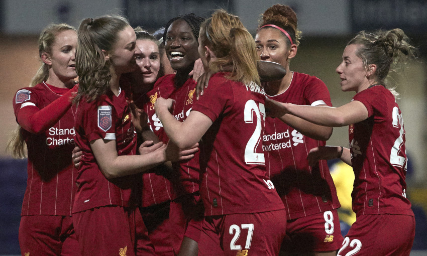 Liverpool FC Women celebrate