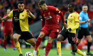 Roberto Firmino in action during Liverpool FC v Watford