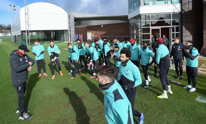 Liverpool training at Melwood