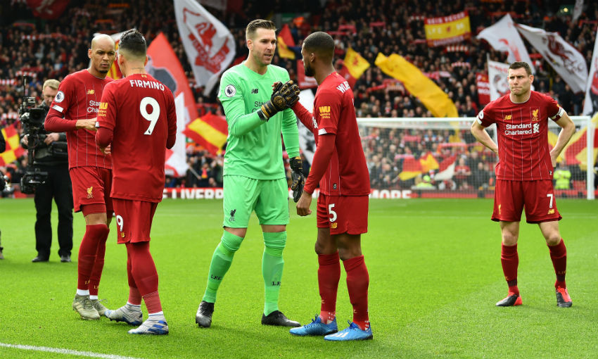 Adrian before Liverpool v Bournemouth