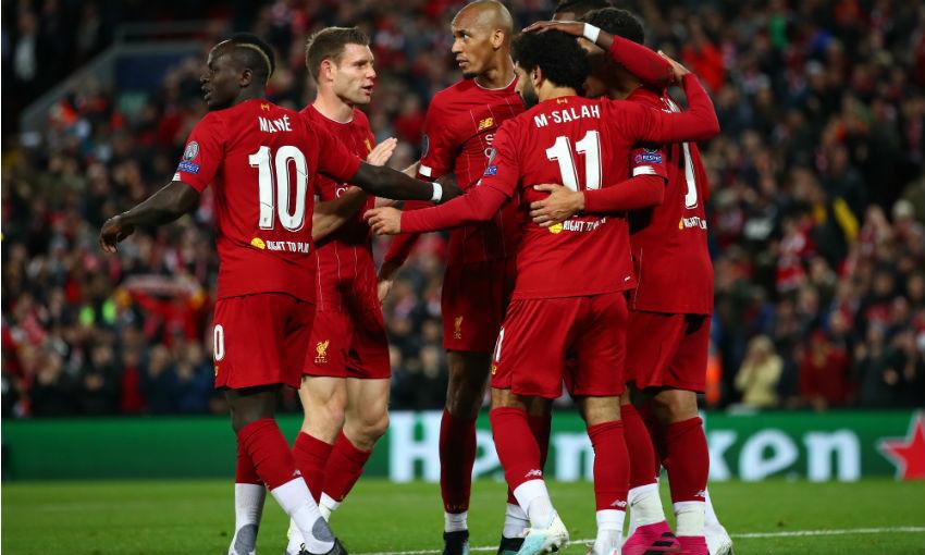 Liverpool FC v Salzburg, Mohamed Salah goal