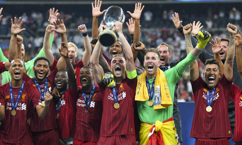 Jordan Henderson lifts UEFA Super Cup