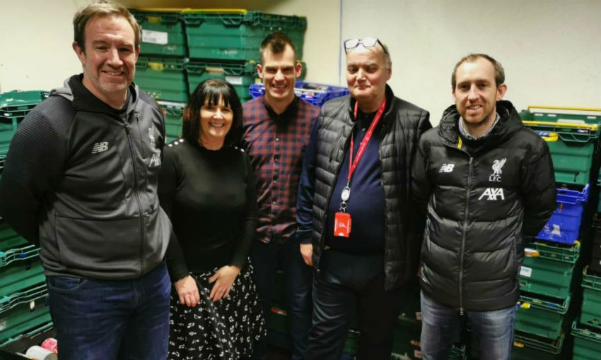 Image result for LFC makes donation to Fans Supporting Foodbanks