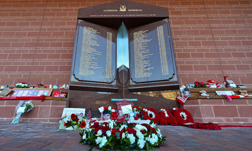 Hillsborough memorial at Anfield - April 15, 2020