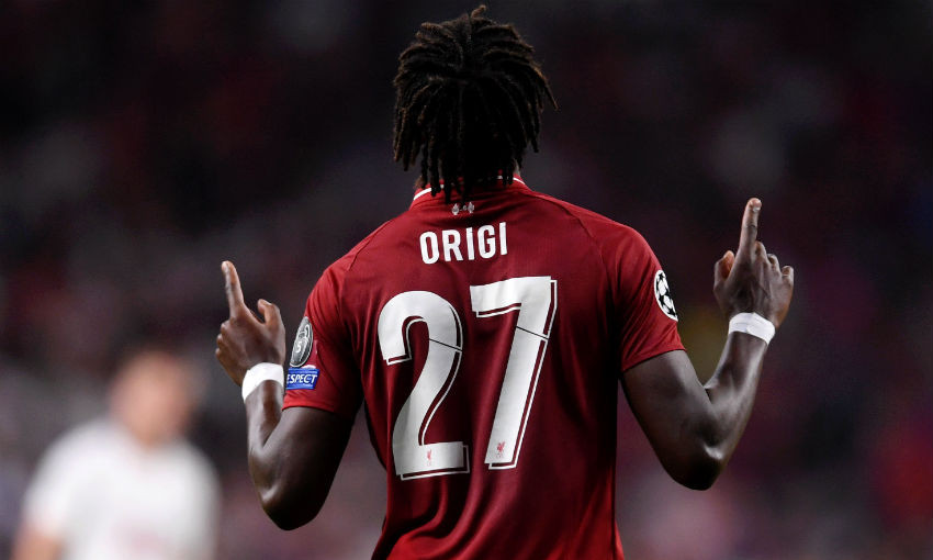 Divock Origi of Liverpool FC