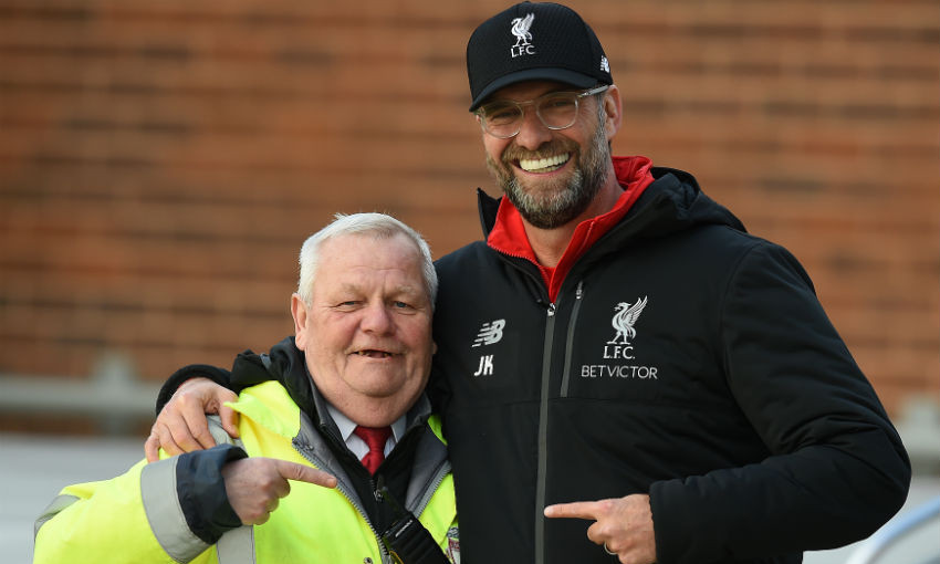 Jürgen Klopp and Kenny Grimes