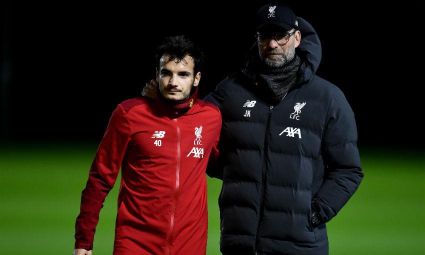Pedro Chirivella of Liverpool FC