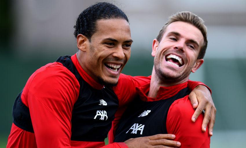 Virgil van Dijk and Jordan Henderson of Liverpool FC